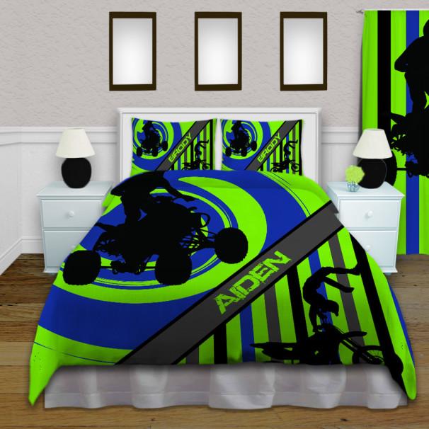 Green-Dirt-Bike-Comforter