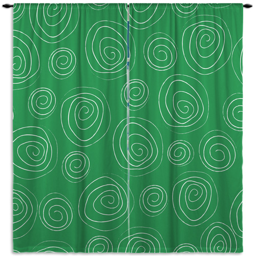Green swirl patterned window curtains for boys rooms 66 eloquent innovations - Green curtain patterns ...