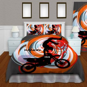 Motocross-Orange-Duvet-cover