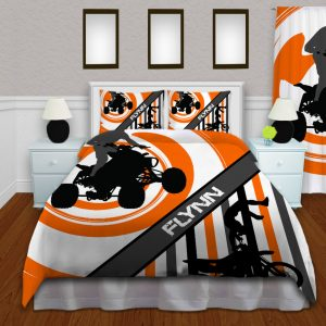 Orange-ATV-Motocross-Bedding