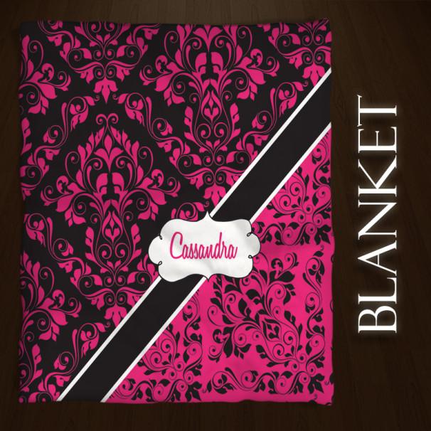 Pink-Damask-Throw