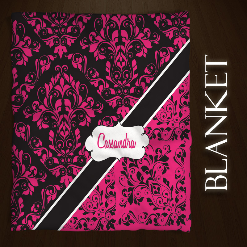 Pink-Damask-Throw