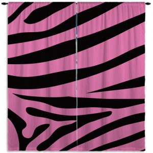 Pink-Printed-Zebra-Curtain