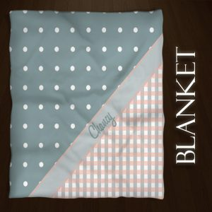 Plaid-Dots-Blue-Throws