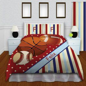 Red-Sport-Bedding-Stripe