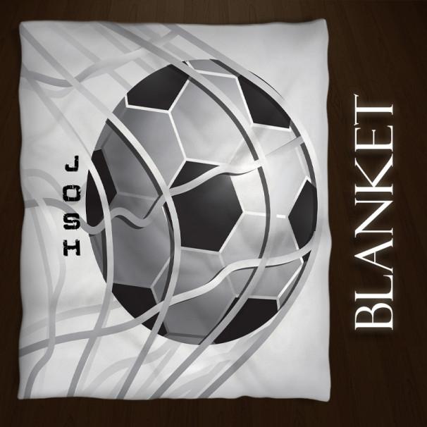 Soccer-Blanket-Black-White