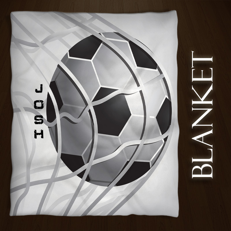 Soccer-Blanket-Black-White
