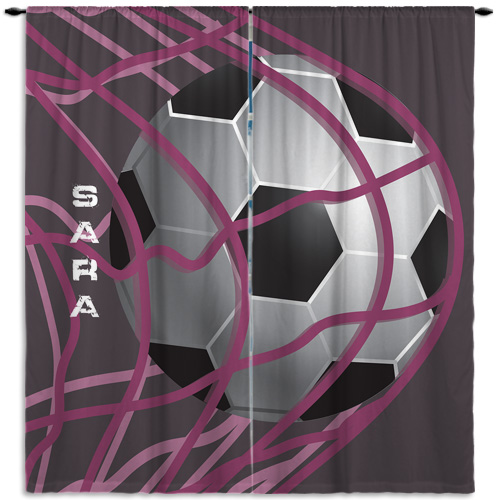 Soccer Purple Curtain
