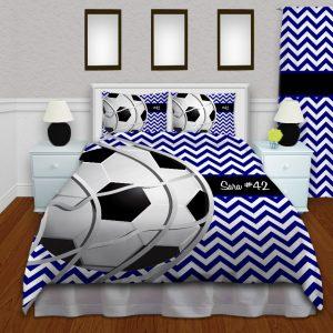 Soccer-Team-Chevron-Comforter