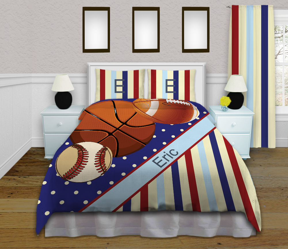 Sports Themed Twin Bedding