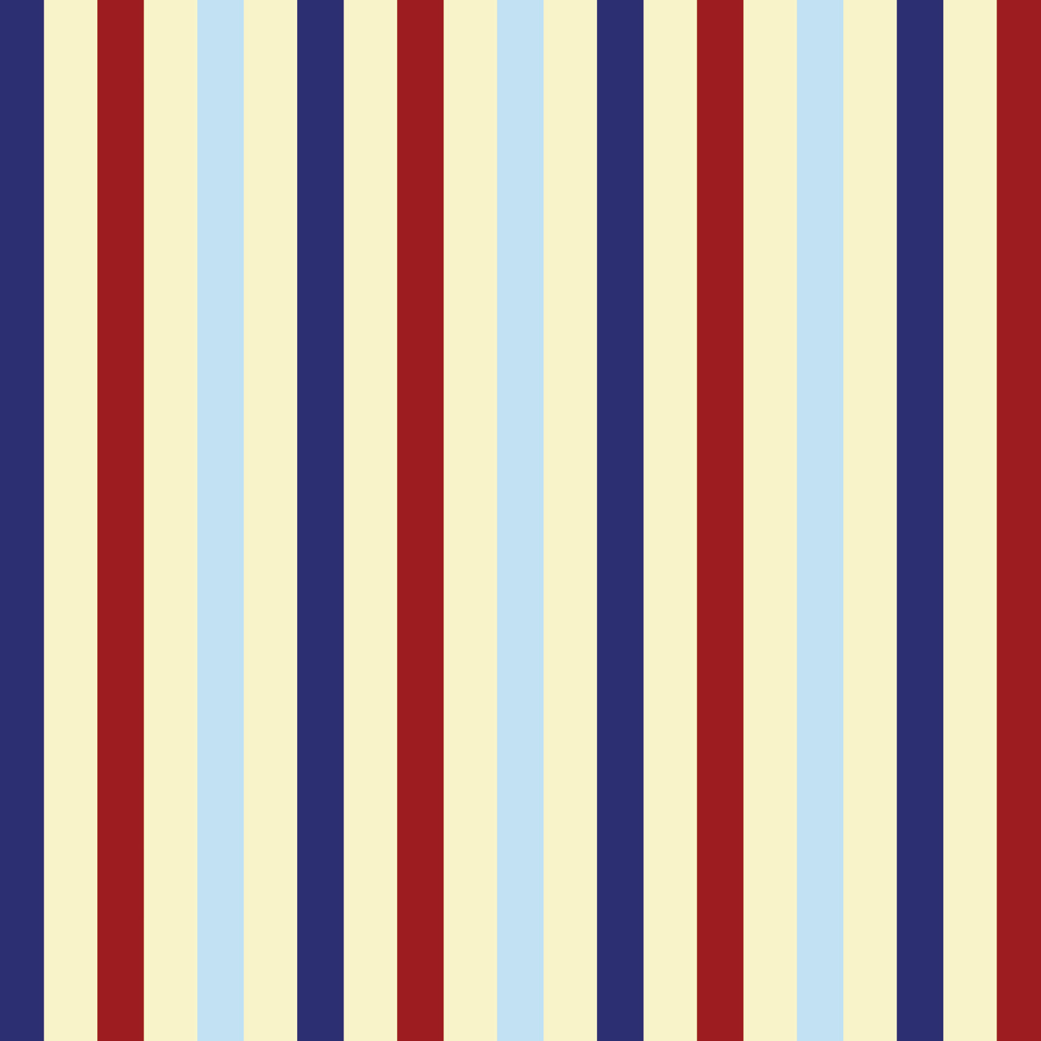 Vertical Striped Navy Blue Red And Beige Curtain Panels