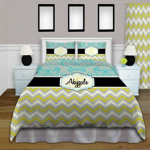 Teal-Green-Blue-Bedding