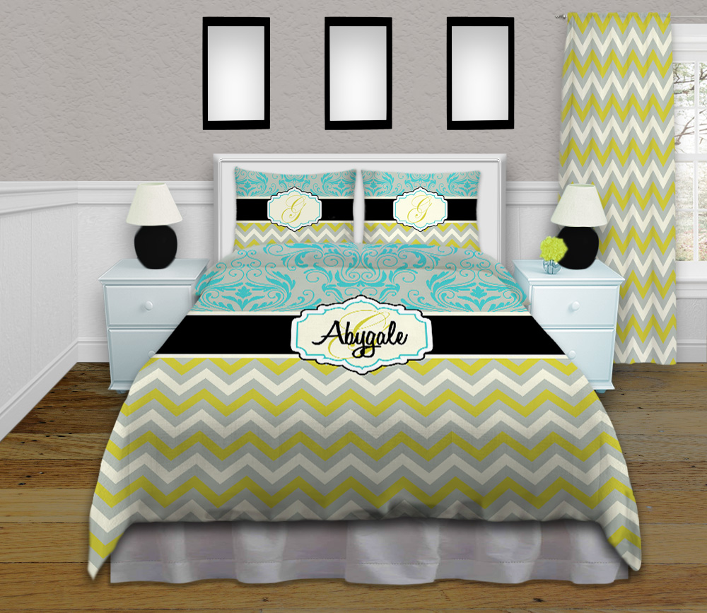 Teal-Green-Blue-Bedding