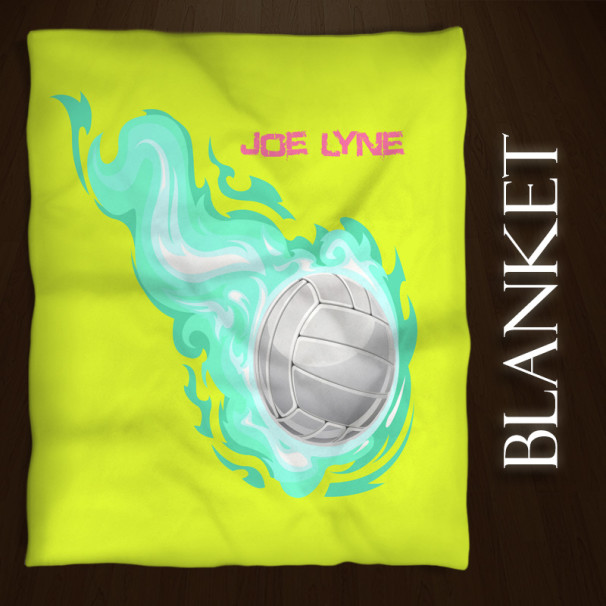 Volleyball-Blanket-Yellow