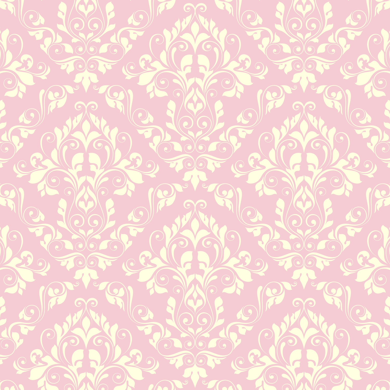 Pink Damask Window Curtains For Bedrooms And Bathrooms