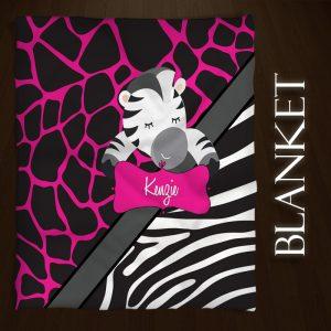 Zebra-Pink-Black-Throws