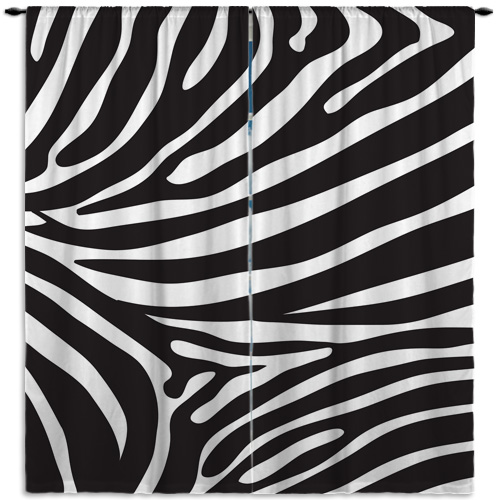 Zebra-Print-Window-Treatment