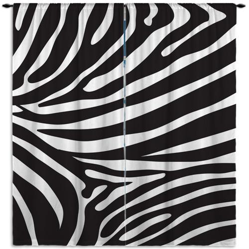 Zebra-Print-Window-Treatment
