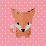 Fox-Coral-Throw-Pillow