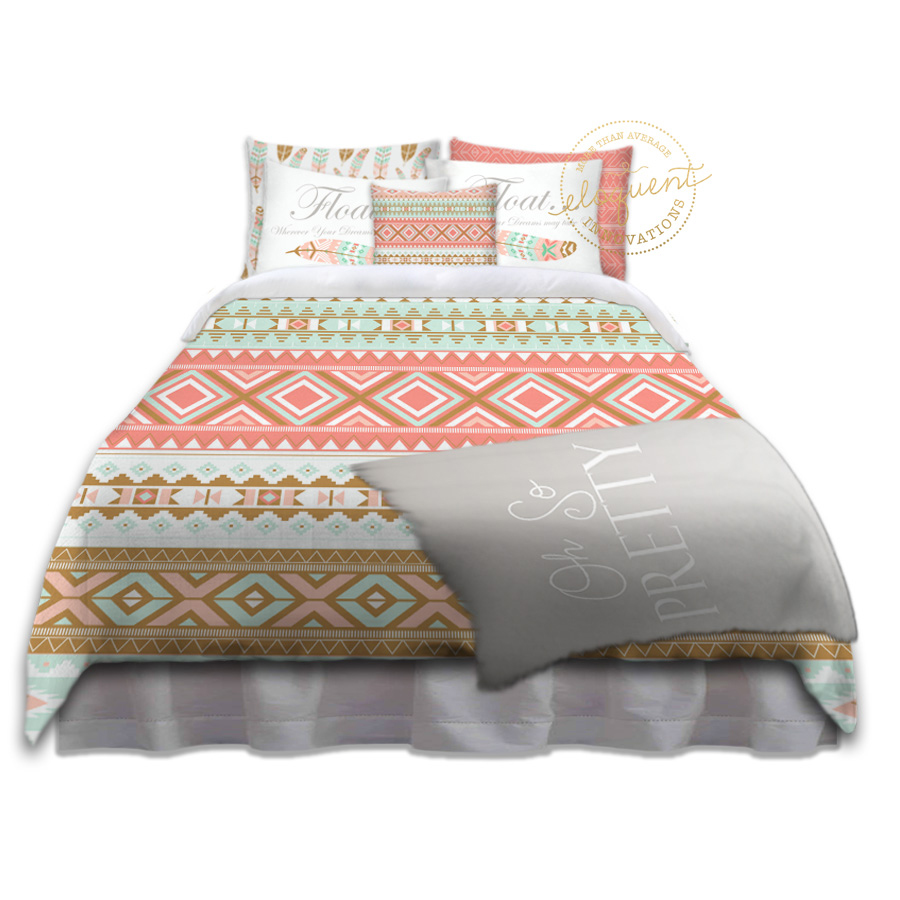 Bedding Bohemian Style Mint Amp Coral Bohemian Bedding Oh So