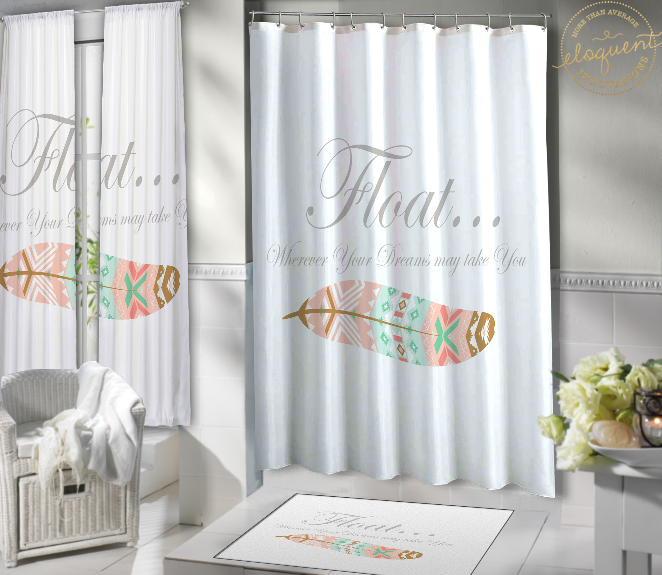 parachute shower curtain grey products and white canvas