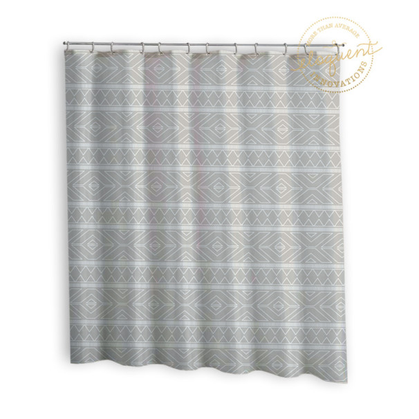 Tribal-Grey-Fabric-Curtain
