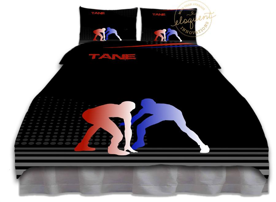 Wrestling Bedding Set Blue Amp Red Wrestling Comforter