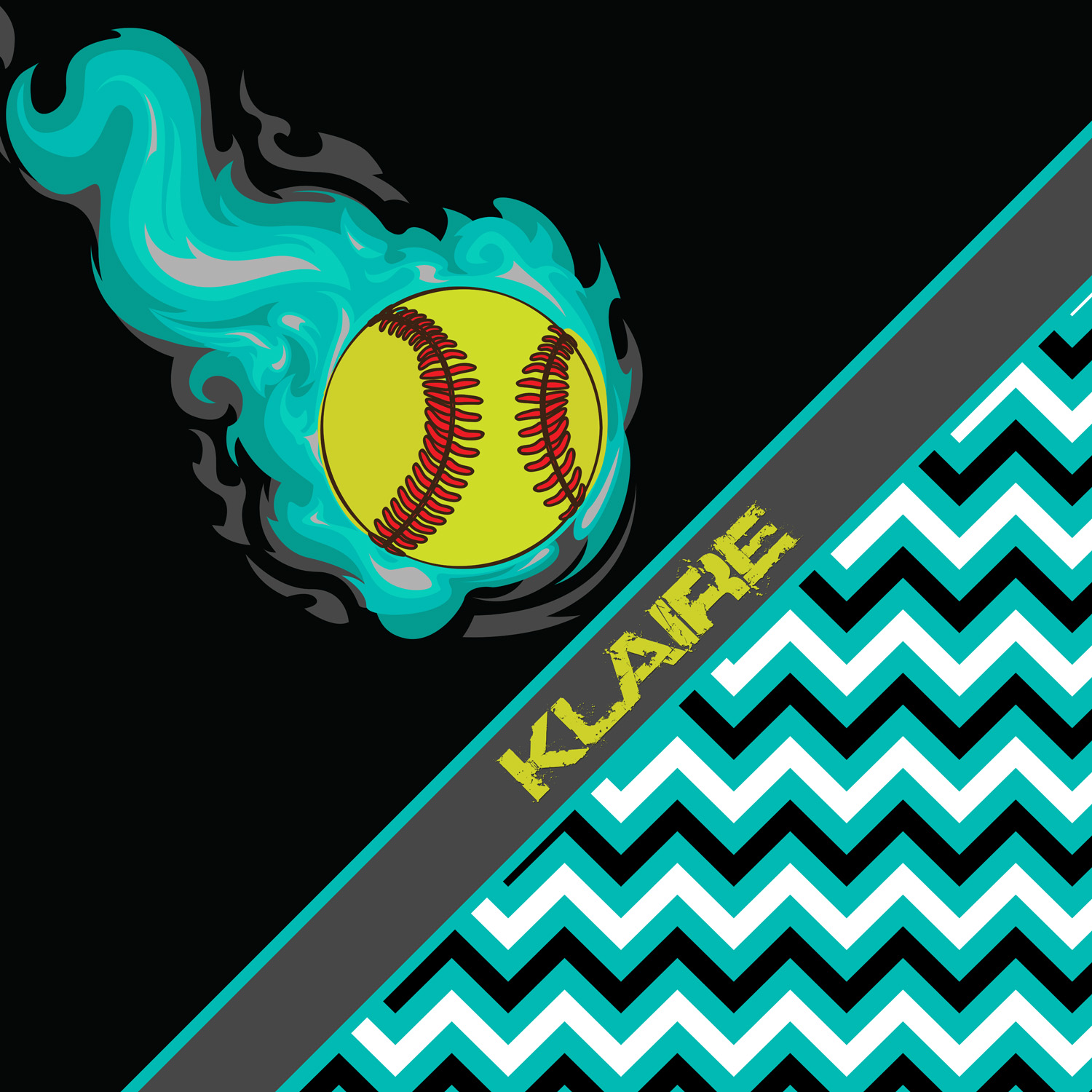 Softball Bedding Set Teal Chevron Softball Bedding