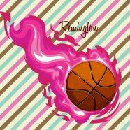 #150_BasketBall-Girls Basketball Bedding Set
