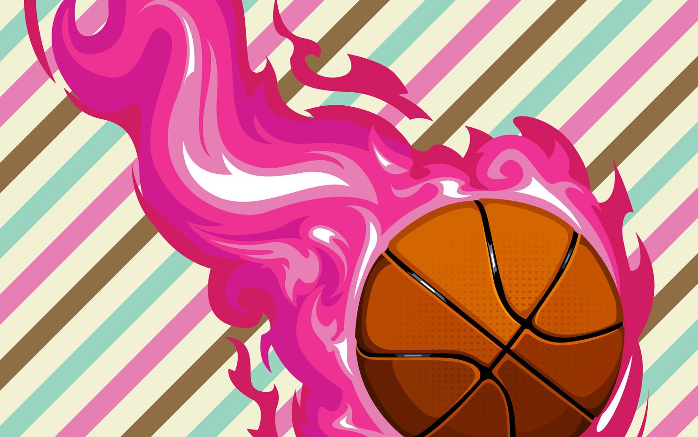 #150 Girls Basketball Area Rug