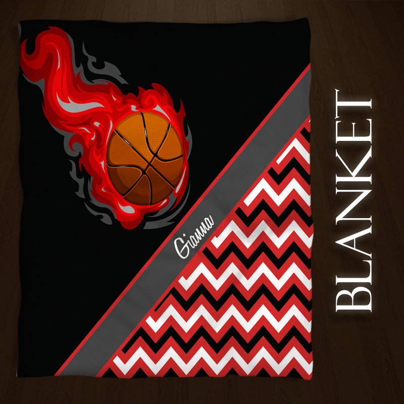 #155_BasketballChevron_Blanket