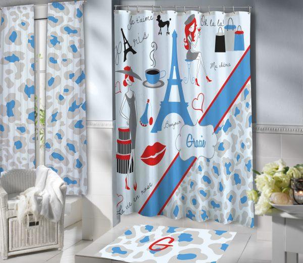 #156 Paris Shower Curtain