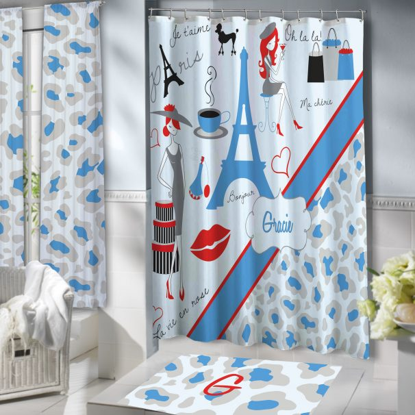 #156 Paris Shower Curtain