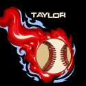 #160_Baseball-Flames_Pillow
