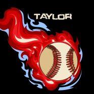 #160_Baseball-Flames_Pillow