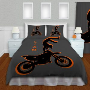 #182 Motocross Dirt bike Bedding Set