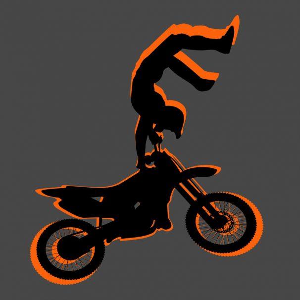 #182 Dirt Bike Motocross Area Rug