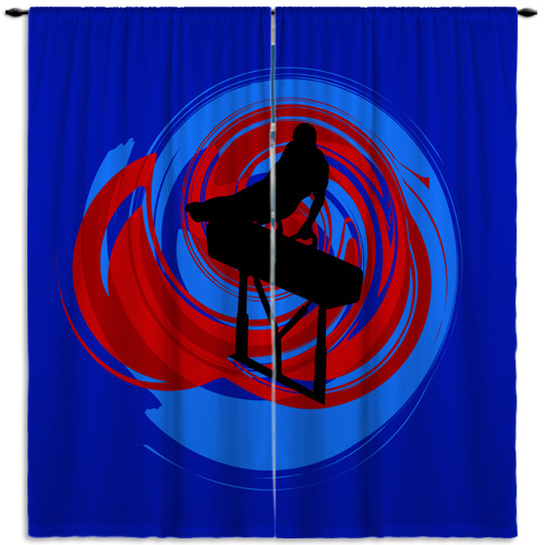#183 Boys Gymnastics Window curtains