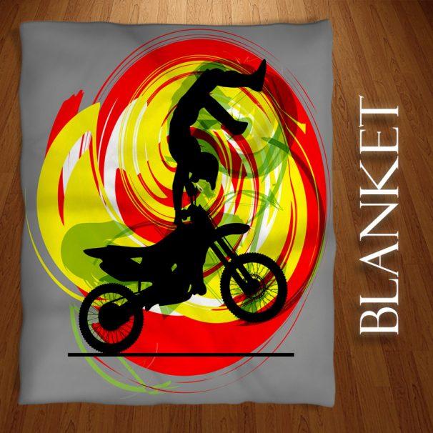 #202 Motocross Dirt Bike Blanket