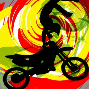 #202 Motocross Dirt Bike Rug