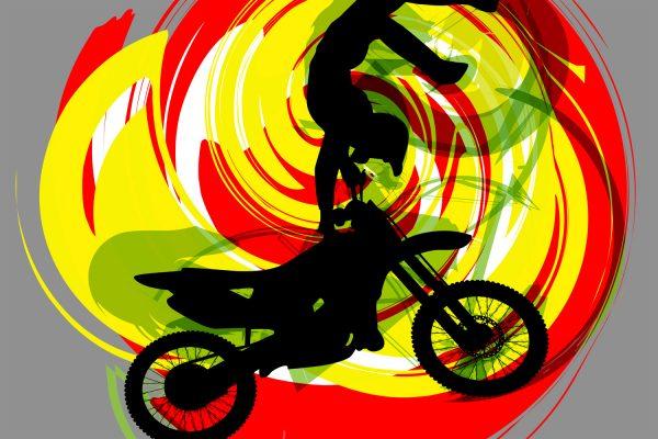 #202 Motocross Dirt Bike Rug