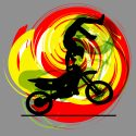 #202_Motocross_Window Curtain