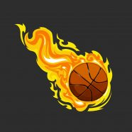 #204 Basketball Window Curtain
