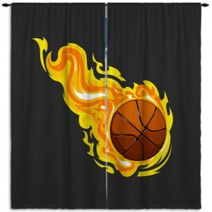 #204 Basketball Window Curtain