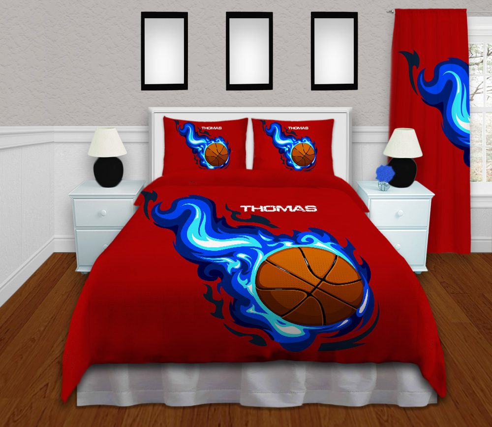 #209 Basketball Bedroom Set with Blue Flames