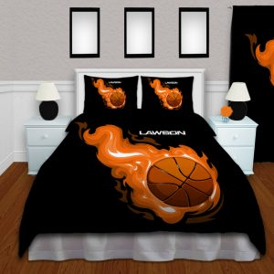 #211 Black Basketball Bedding Set