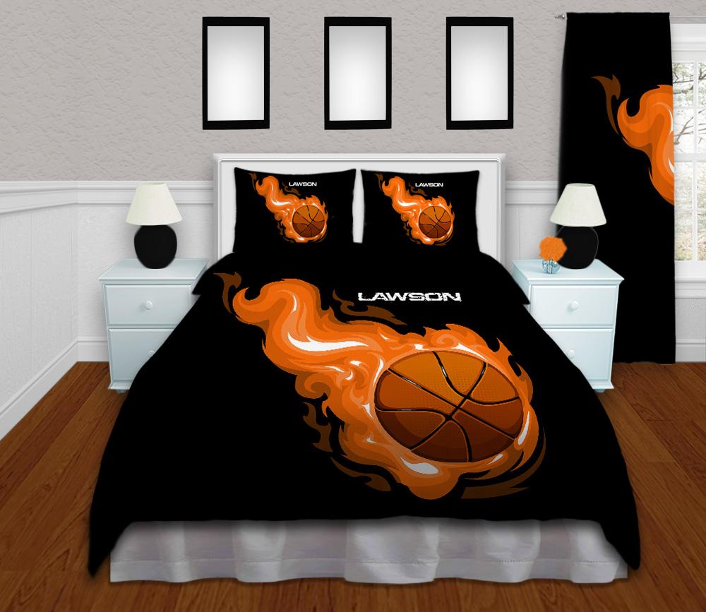 #211 Black Basketball Bedding Set