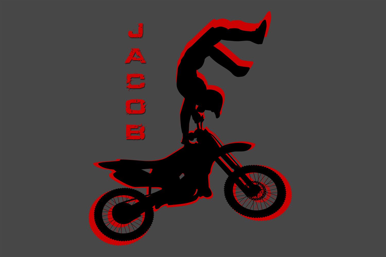 #213 Dirt Bike Motocross Area Rug