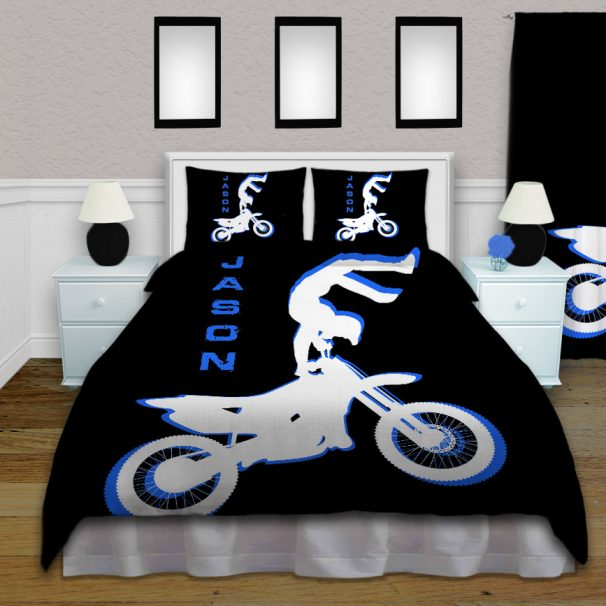#214 Dirt Bike Motocross Bedding Set