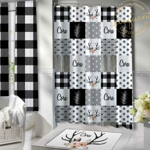 woodland shower curtain